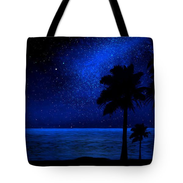 Tropical Beach Wall Mural Tote Bag by Frank Wilson