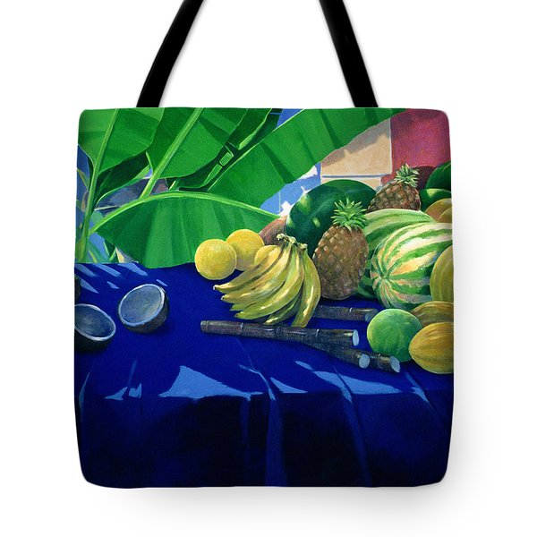 Tropical Fruit Tote Bag by Lincoln Seligman