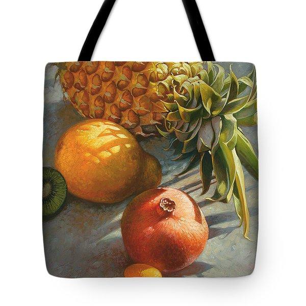 Tropical Fruit Tote Bag by Mia Tavonatti