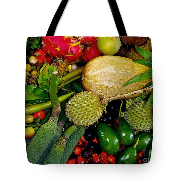 Tropical Fruits Tote Bag by Carey Chen