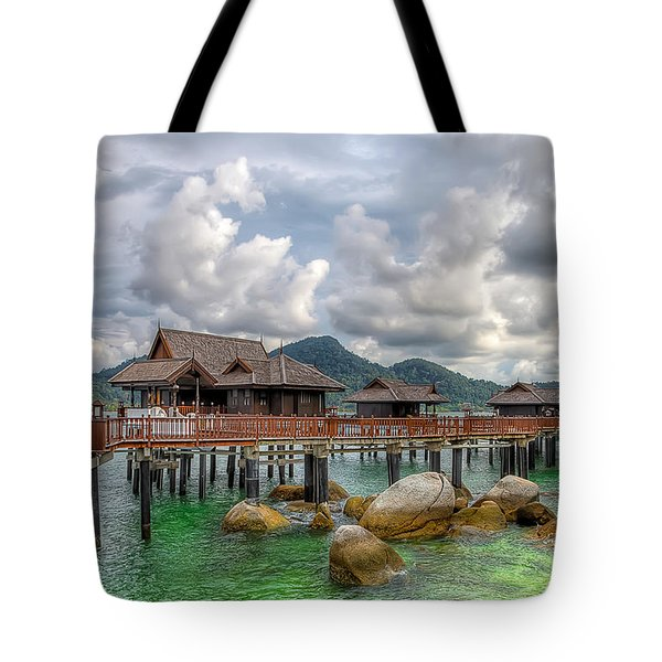 Tropical Home Tote Bag by Adrian Evans