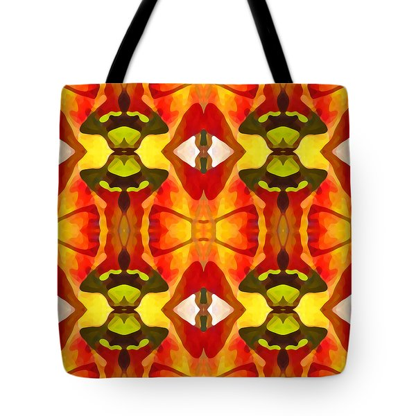 Tropical Leaf Pattern 7 Tote Bag by Amy Vangsgard