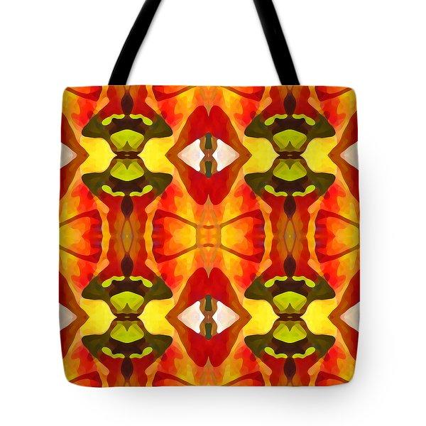 Tropical Leaf Pattern 7 Tote Bag by Amy Vangsgard