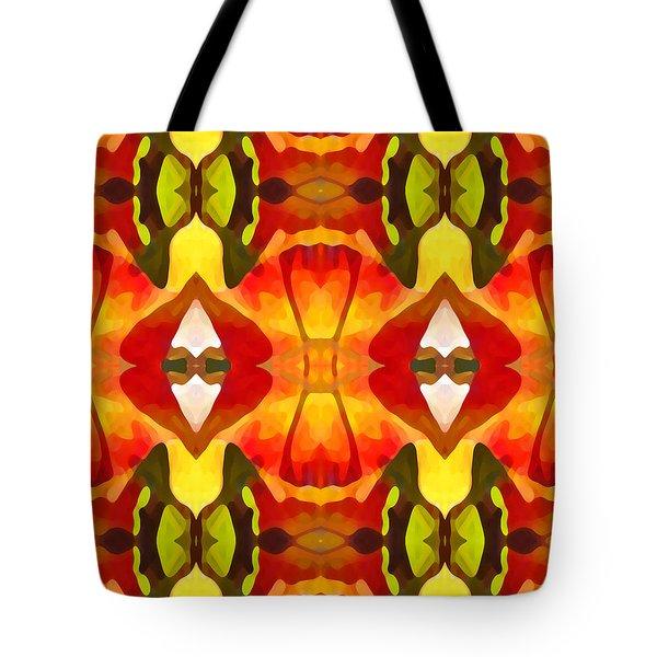 Tropical Leaf Pattern  9 Tote Bag by Amy Vangsgard