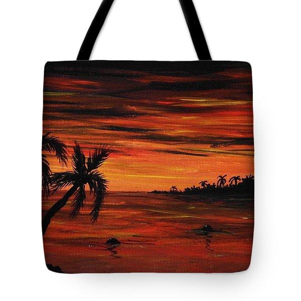 Tropical Night Tote Bag by Anastasiya Malakhova