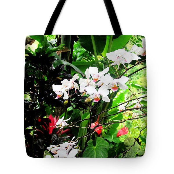Tropical Orchids Tote Bag by Tina M Wenger