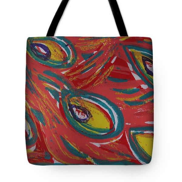 Tropical Peacock Tote Bag by Jennifer Schwab