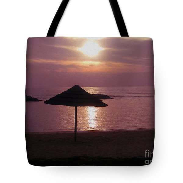 Tropical Sunset Tote Bag by Cheryl Young