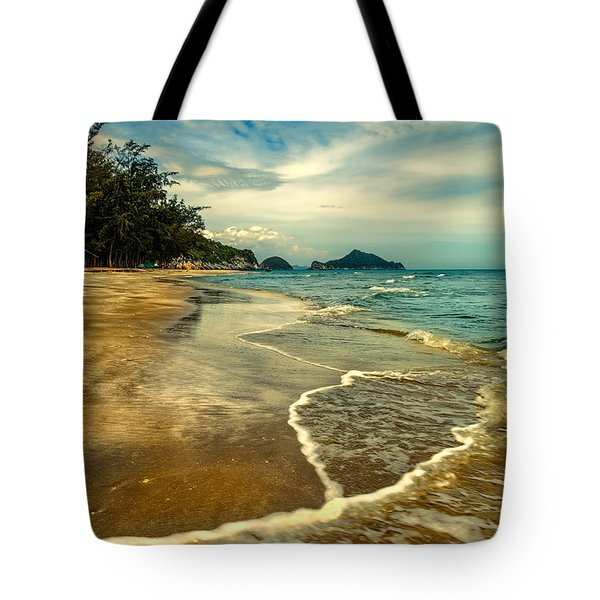 Tropical Waves Tote Bag by Adrian Evans