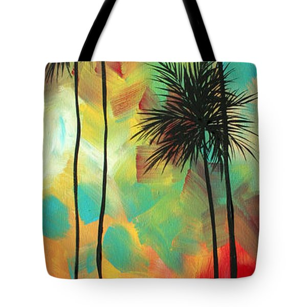 Tropics By Madart Tote Bag by Megan Duncanson