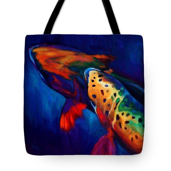 Trout Dreams Tote Bag by Savlen Art