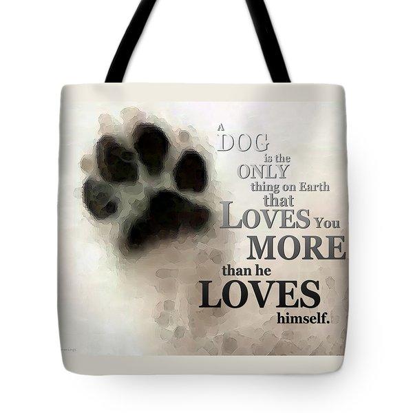 True Love - By Sharon Cummings Words By Billings Tote Bag by Sharon Cummings