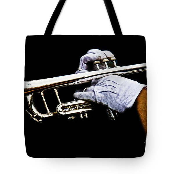 Trumpet Tote Bag by Tom Gari Gallery-Three-Photography