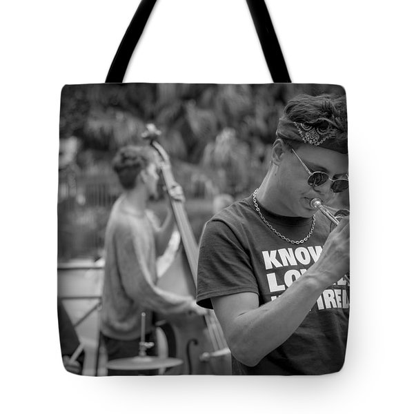 Trumpet in the Big Easy Tote Bag by David Morefield