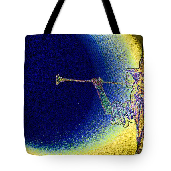 Trumpet Moon Tote Bag by First Star Art