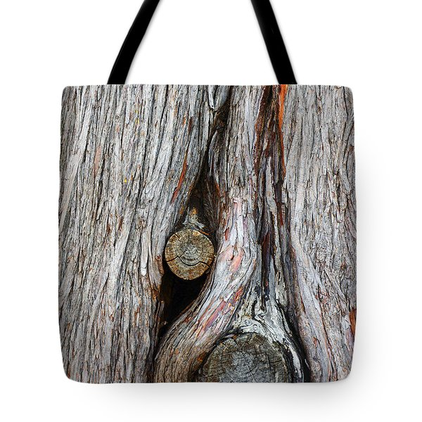 Trunk Knot Tote Bag by Carlos Caetano