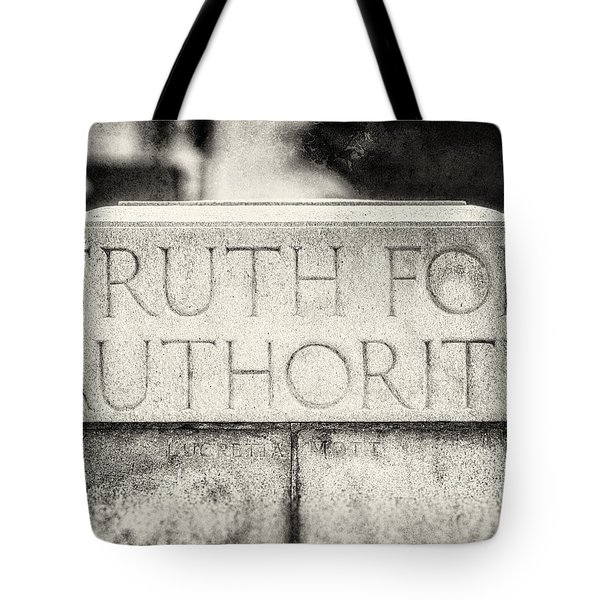 Truth for Authority Lucretia Mott  Tote Bag by Lisa Russo