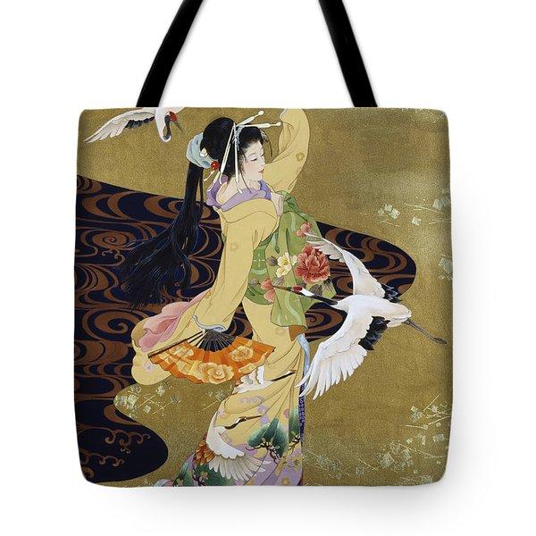 Tsuru No Mai Tote Bag by Haruyo Morita
