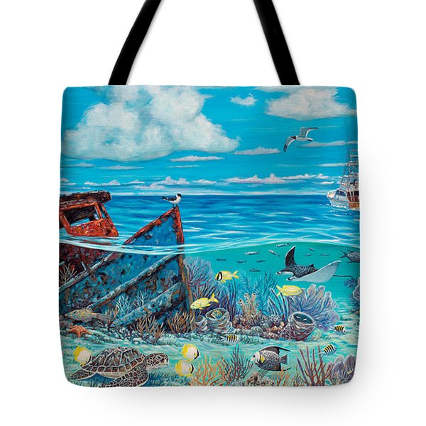 Tug Boat Reef Tote Bag by Danielle  Perry