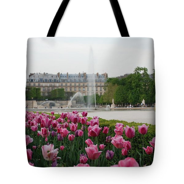 Tuileries Garden in Bloom Tote Bag by Jennifer Lyon
