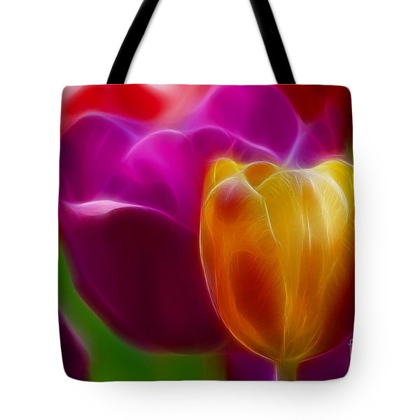 Tulip-7011-fractal Tote Bag by Gary Gingrich Galleries