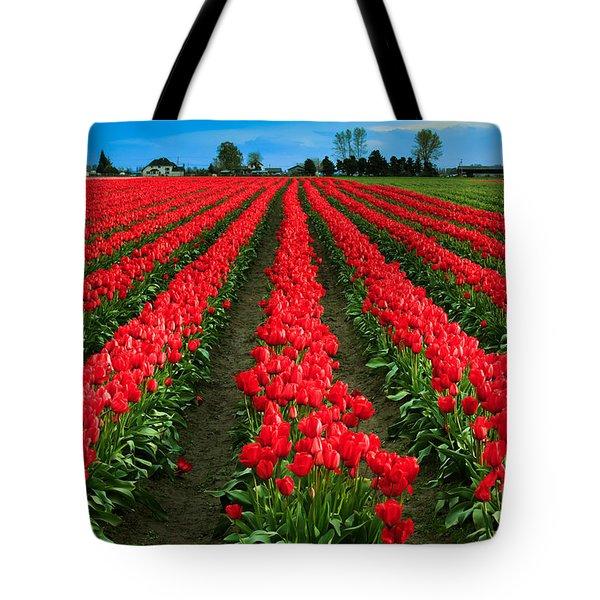 Tulip Cornucopia Tote Bag by Inge Johnsson