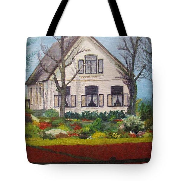 Tulip Cottage Tote Bag by Martin Howard
