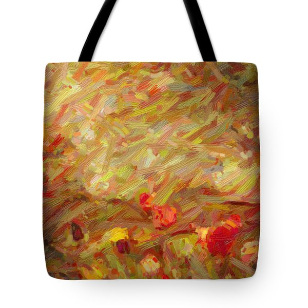 Tulip Garden Abstract Tote Bag by Kenny Francis