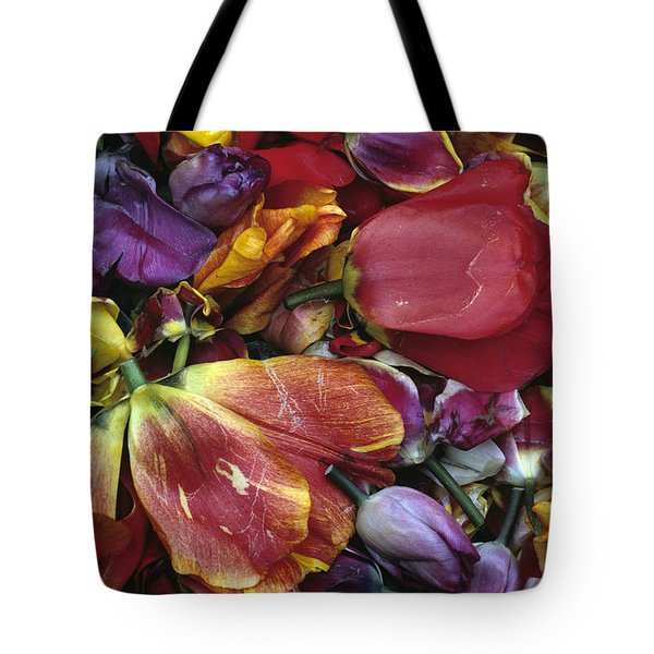 Tulip Heads Tote Bag by Jim Corwin