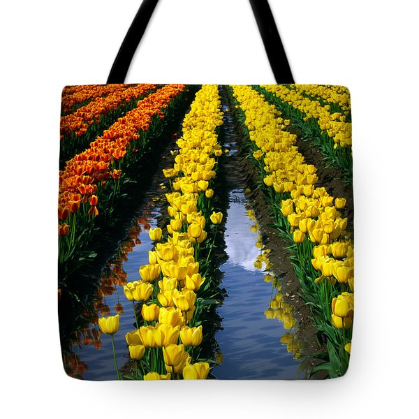 Tulip Reflections Tote Bag by Inge Johnsson