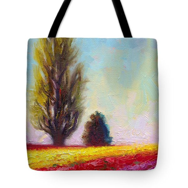 Tulip Sentinels Tote Bag by Talya Johnson