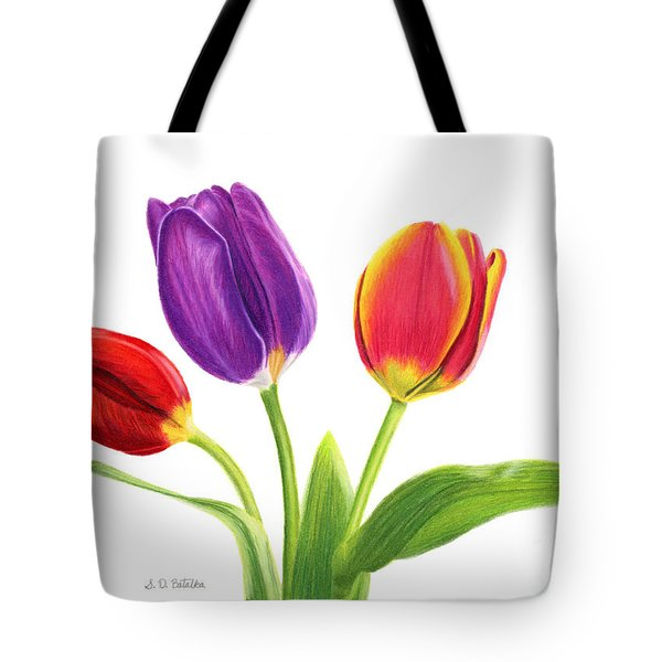 Tulip Trio Tote Bag by Sarah Batalka
