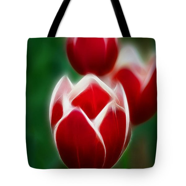 Tulips-6835-fractal Tote Bag by Gary Gingrich Galleries