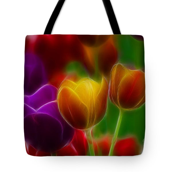 Tulips-7060-fractal Tote Bag by Gary Gingrich Galleries
