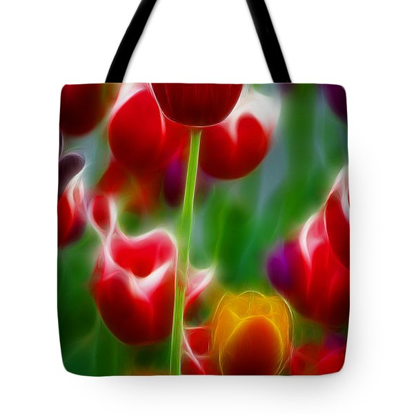 Tulips-7069-fractal Tote Bag by Gary Gingrich Galleries
