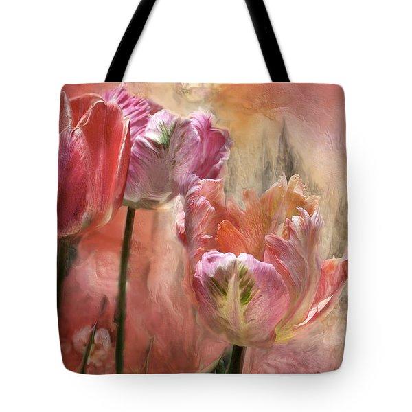 Tulips - Colors Of Love Tote Bag by Carol Cavalaris
