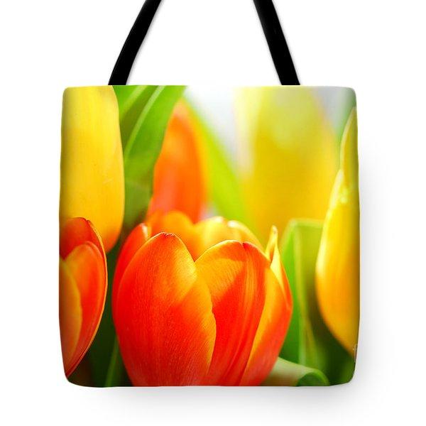 Tulips Tote Bag by Elena Elisseeva