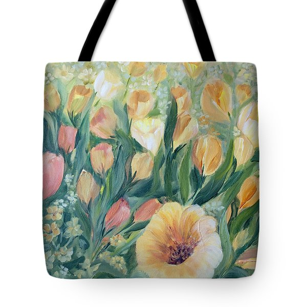 Tulips I Tote Bag by Joanne Smoley