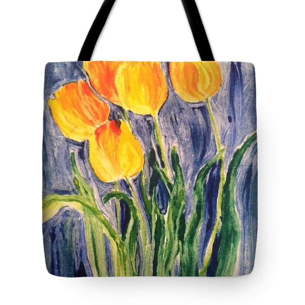 Tulips Tote Bag by Sherry Harradence