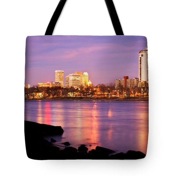 Tulsa Oklahoma - University Tower View Tote Bag by Gregory Ballos