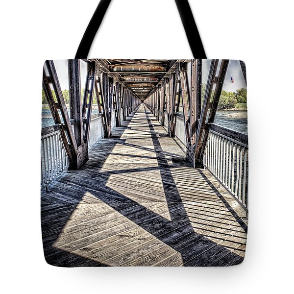 Tulsa Pedestrian Bridge Tote Bag by Tamyra Ayles