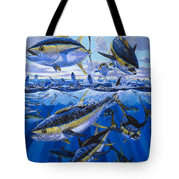 Tuna Rampage Off0018 Tote Bag by Carey Chen