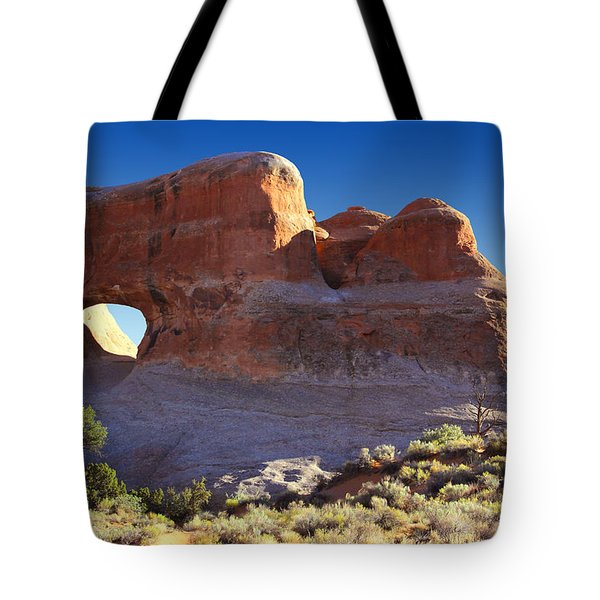 Tunnel Arch - Arches National Park Tote Bag by Mike McGlothlen