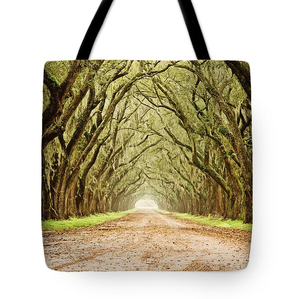 Tunnel In The Trees Tote Bag by Scott Pellegrin