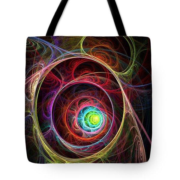 Tunnel Of Lights Tote Bag by Anastasiya Malakhova