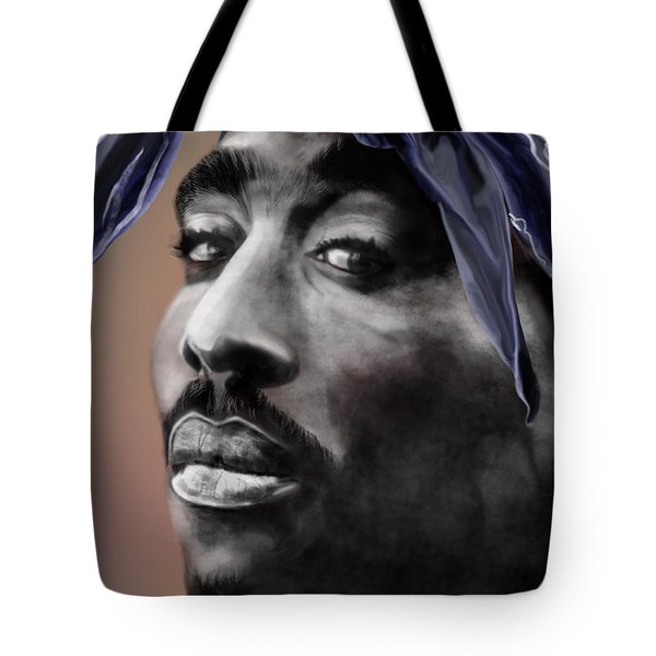 Tupac - The Tip Of The Iceberg  Tote Bag by Reggie Duffie