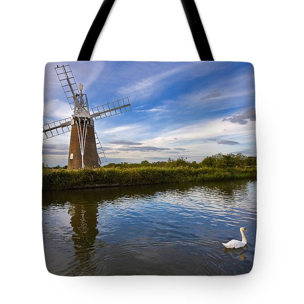 Turf Fen Drainage Mill Tote Bag by Louise Heusinkveld