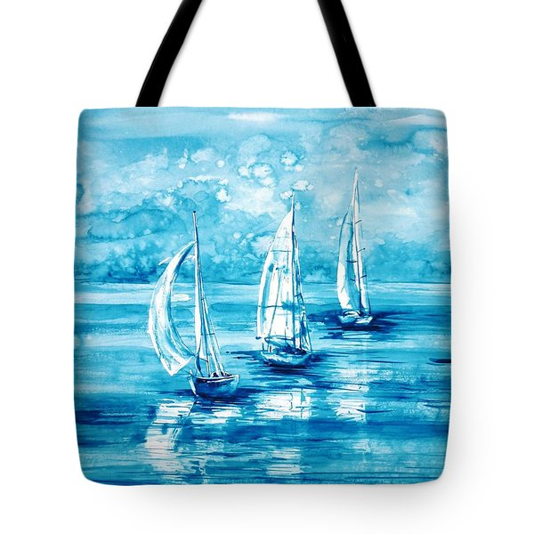 Turquoise Morning Tote Bag by Zaira Dzhaubaeva