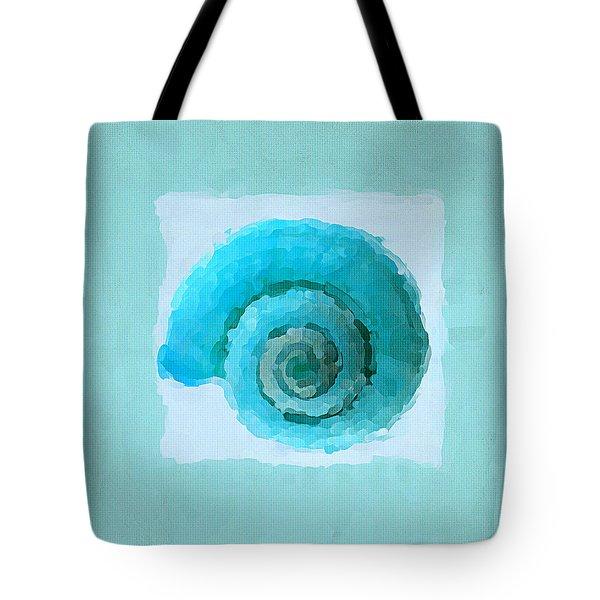 Turquoise Seashells III Tote Bag by Lourry Legarde