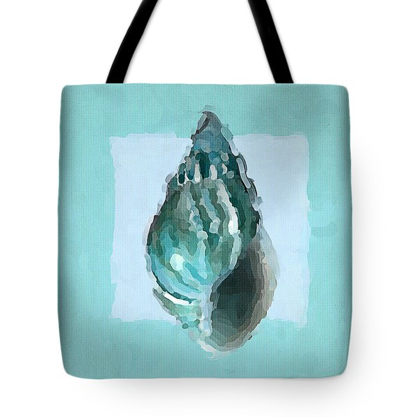 Turquoise Seashells V Tote Bag by Lourry Legarde